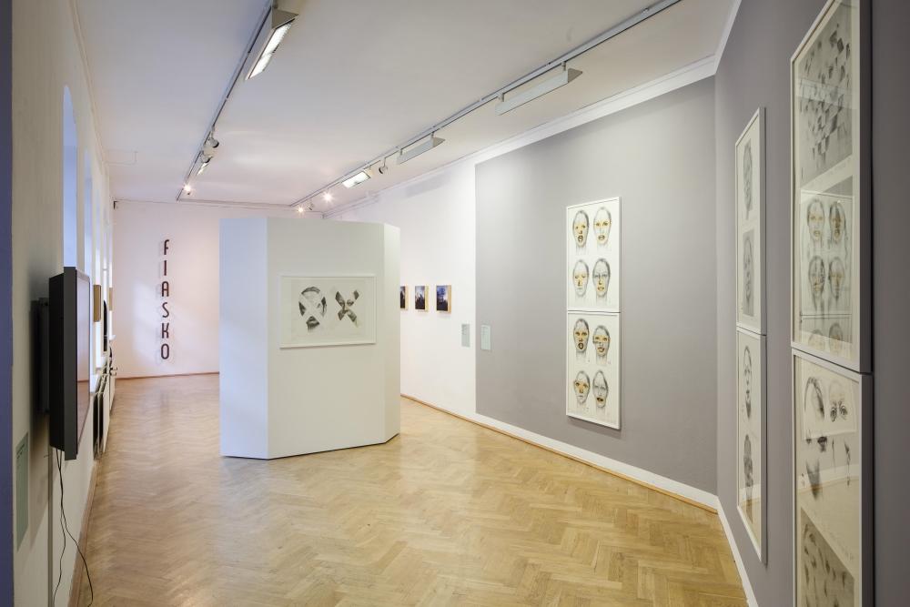 Arbeiten von Krystyna Piotrowska, Ausstellungsansicht, Foto: David Brandt
