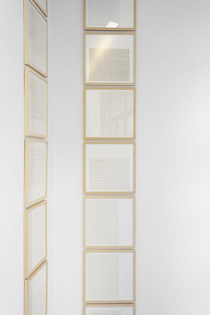 Michael Müller, K4 Schriftblätter, 2004, Courtesy: Galerie Ursula Walbröl, Düsseldorf
