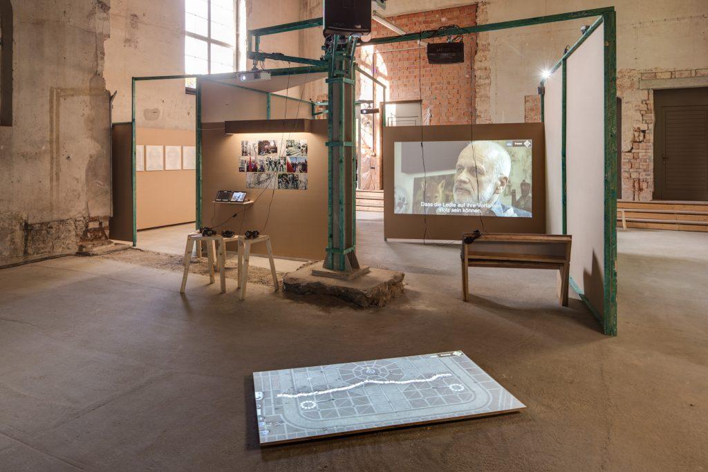 Ausstellung im Heizhaus Schloss Albrechtsberg. Foto: David Brandt