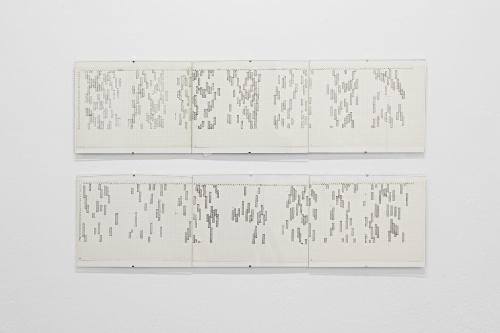 Hilka Nordhausen, ohne Titel / Zigaretten Diagramm 3 (14 Tage), 1974, Courtesy: Karl-Heinz Steinle, Berlin