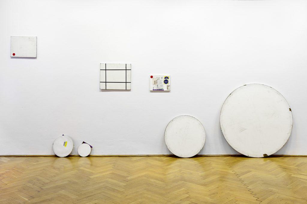 Karin Sander, Mailed Paintings, 2006-2011, Courtesy: Galerie Esther Schipper, Berlin