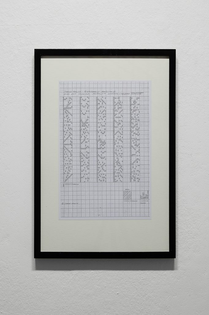 Channa Horwitz, (#354) Sonakinatography Composition #9 To The Top diminished, 2011, Courtesy the artist, Galerie Aanant&Zoo, Berlin