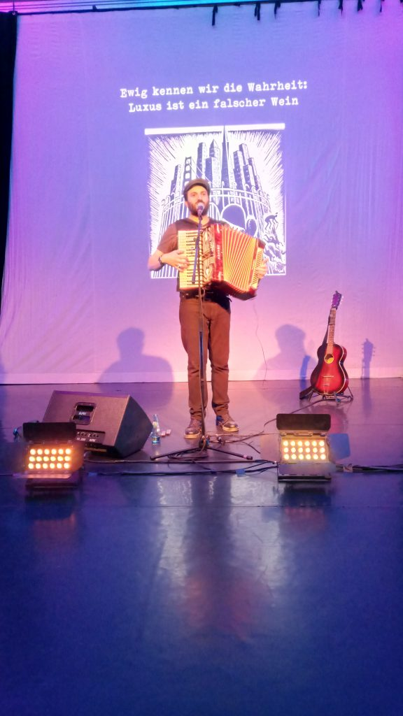 Konzert Daniel Kahn: Freedom is a verb, 2018, Probebühne JKS, Dresden. Foto: Robert Thiele