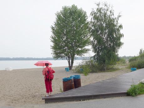 """Das Mobile Landschaftsatelier – Motiv zum Tagesprojekt """"Fundgruben"""" von Ina Kwon Foto: Ina Kwon"""