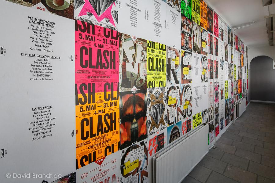 Wall of Fame, Plakatwand mit den Plakaten aller vergangenen Staffeln. Foto: David Brandt