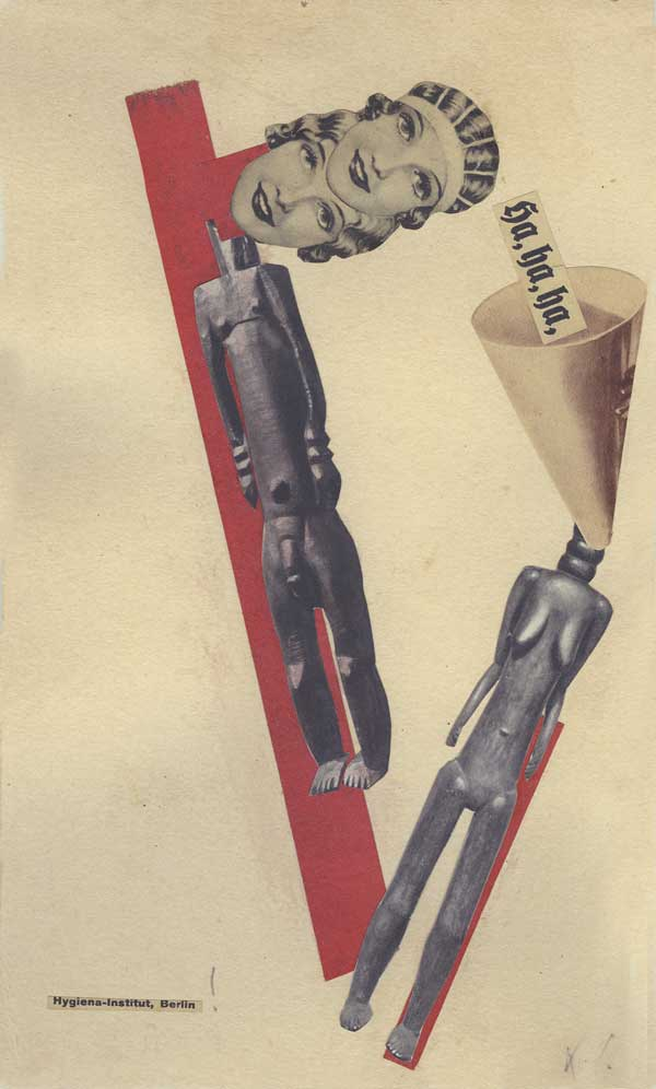 Collage: ha,ha,ha Hygiena-Institut, Berlin!, Karl Waldmann (o.J.), Courtesy of Gallery Pascal Polar