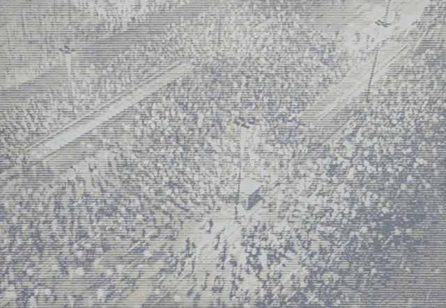 "Markus Draper: from the series DEMOTAPE:  ""0:08:45"", oil on canvas, 155 x 220 cm"