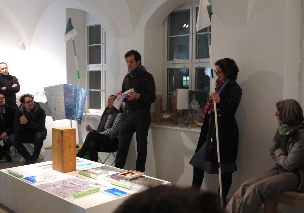 Robert Thiele, Kunstahus Dresden, stellt die einzelnen Projekte vor.
