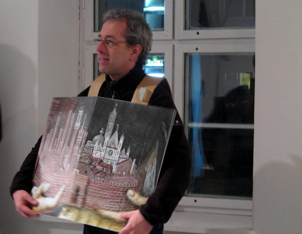 Christoph Rodde demonstriert sein Projekt