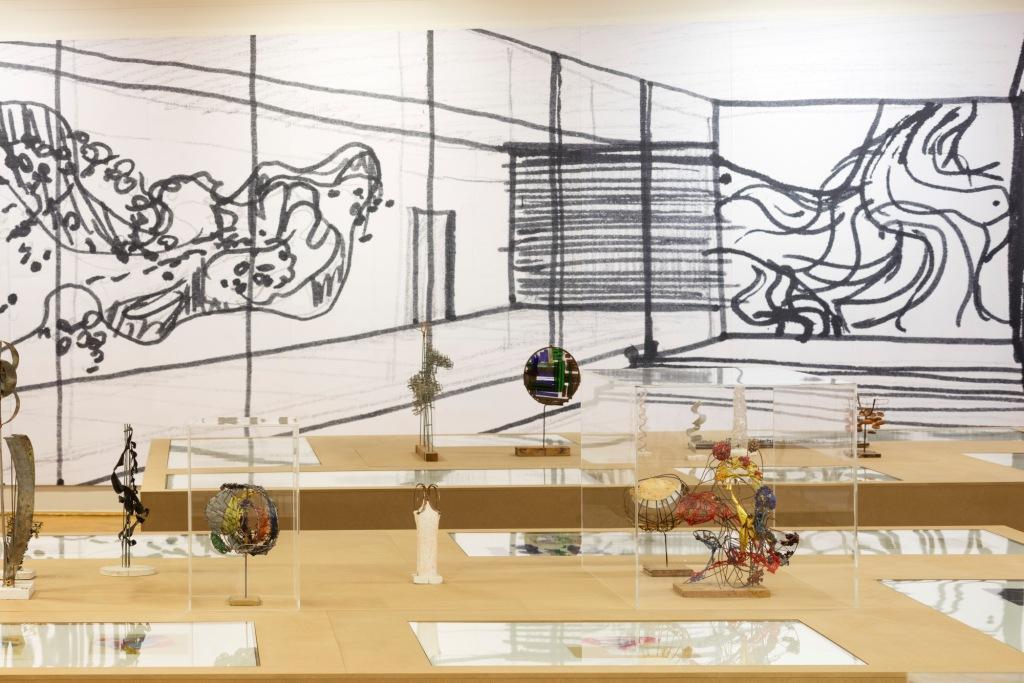 Leoni Wirth: Modelle und Zeichnungen sowie andere Arbeiten auf Papier aus dem Atelier, zwischen 1963 und 2006, Leihgeber: Dr. Hans Wirth, Foto: David Brandt