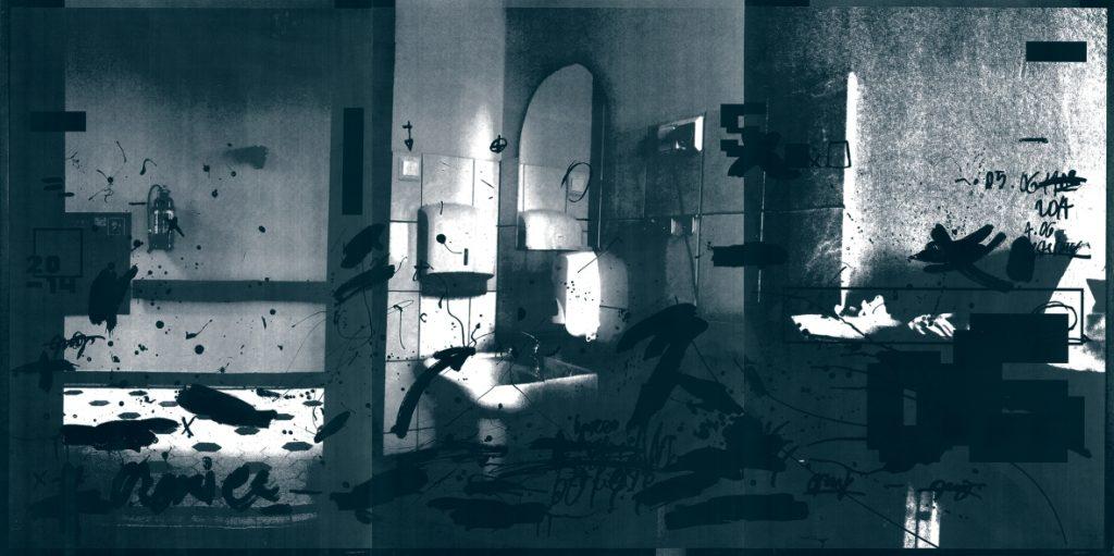 Marta Kubiak: 05.06.2014, Serigrafie, 109,5x221 cm, 2015