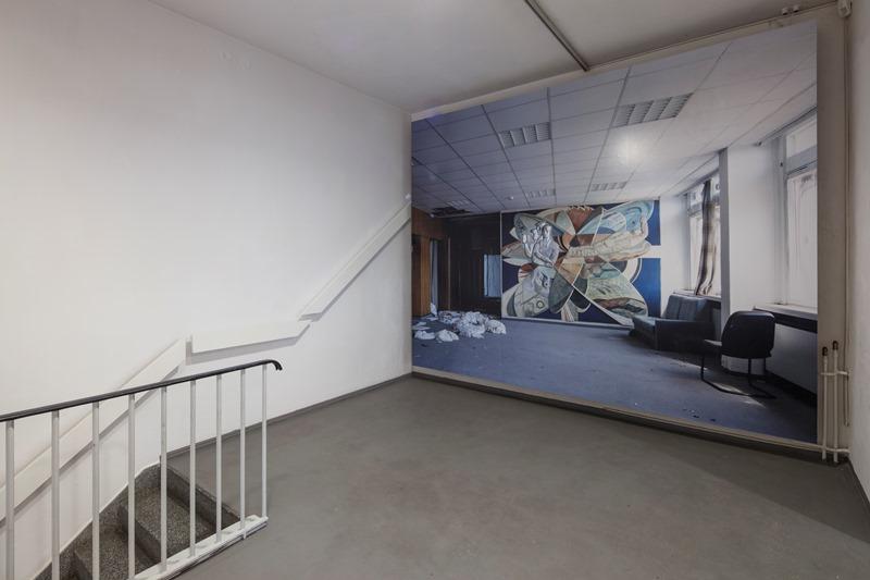 Margret Hoppe: Arno Rink, Wandbild Robotron Gebäude 1970, Leipzig, 2012, VGBild-Kunst Bonn, 2012. Foto: David Brandt