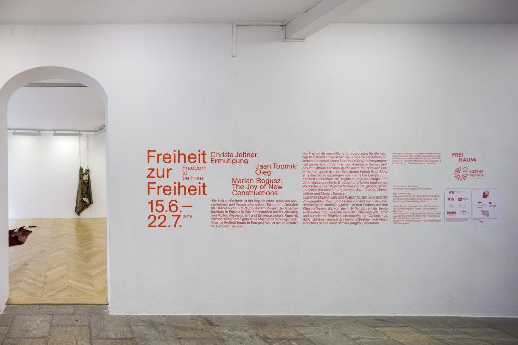 Ausstellungsansicht Christa Jeitner: Ermutigungen, Kunsthaus Dresden Foto: David Brandt / ©Christa Jeitner /  VG Bild-Kunst, Bonn 2018