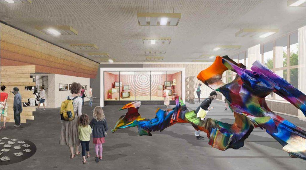 Visualisierung aus dem Nutzungskonzept des Kunsthaus Dresden