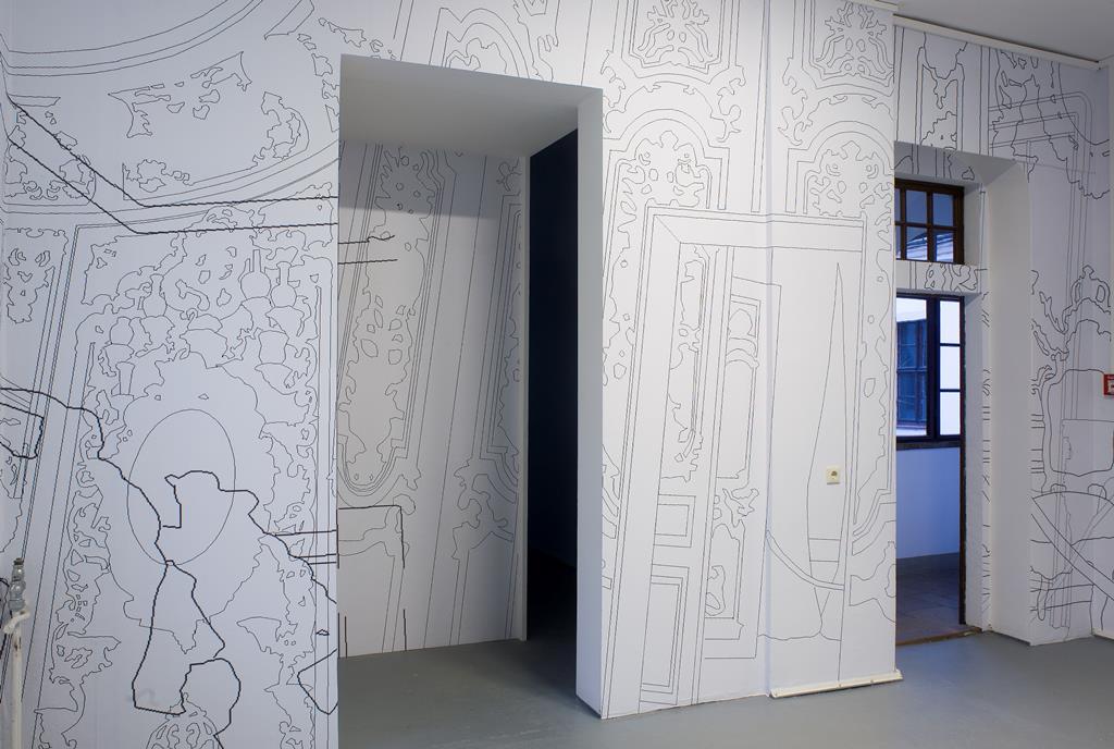 Ursula Döbereiner esc002, Installation, 2006. Ausstellungsansicht Kunsthaus Dresden. Foto: David Brandt