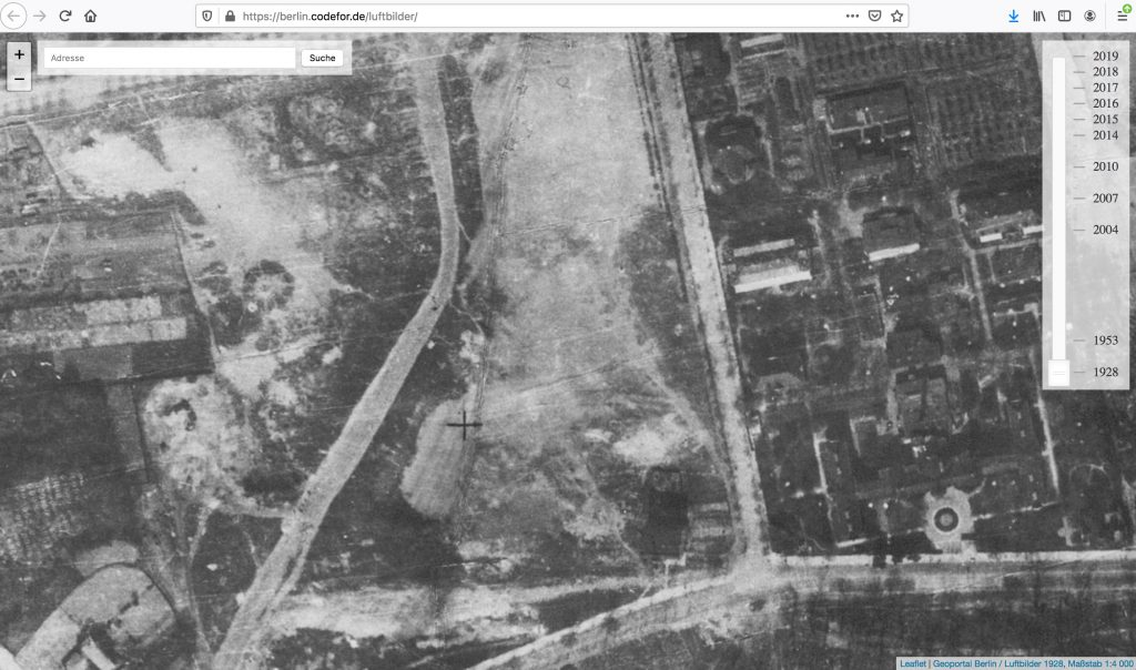 Aerial shot from 1928