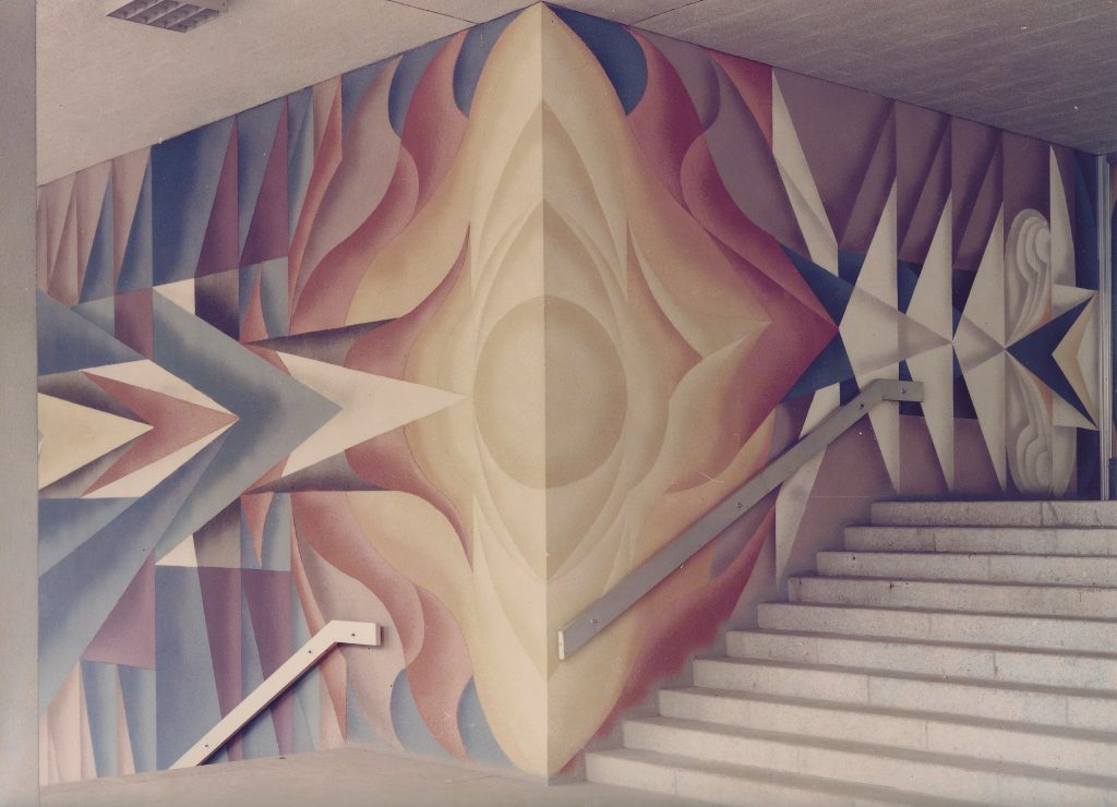 Karl-Heinz Adler / Friedrich Kracht, Wandbild im Foyer des Plauener-Rathauses, 1975, Foto: Friedrich Kracht