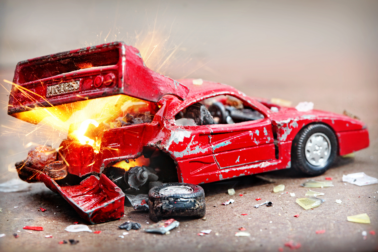 Unfallwagen - Ferrari F40